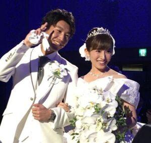 市野瀬瞳と旦那の結婚式画像