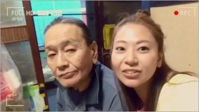 礒部希帆と父の画像