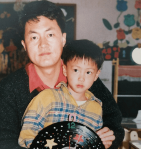 ジンと父親の画像