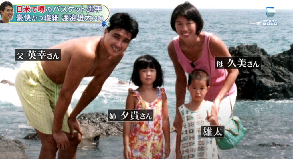 渡邊雄太の家族写真画像