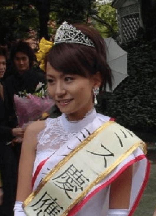 高内三恵子のミス慶應受賞時の画像