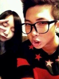 キムナムジュンと妹の画像