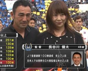 長谷川健太と嫁聖子の画像